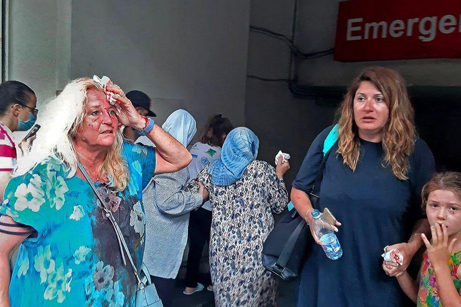 Deux explosions ont retenti près du port de Beyrouth, au Liban, mardi apreès-midi.