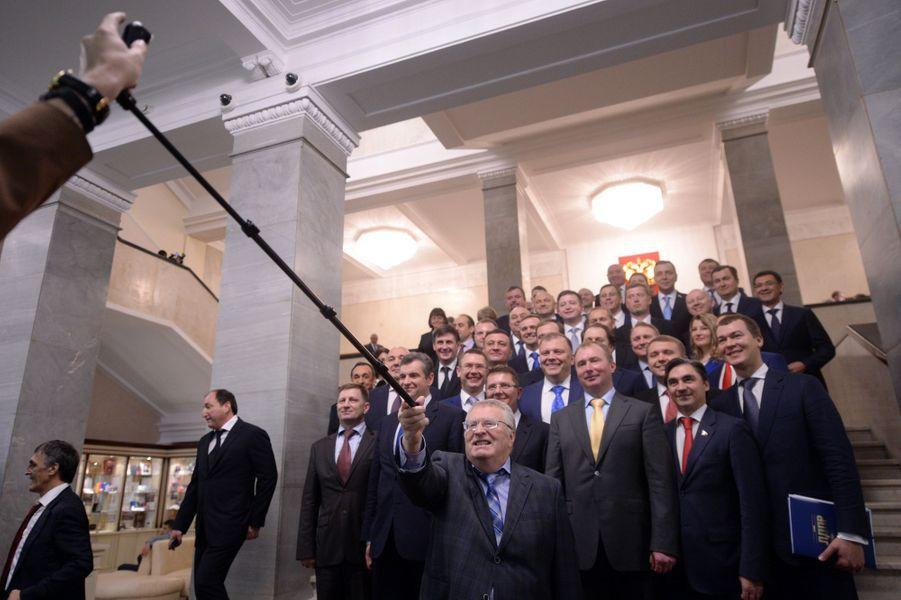 Des députés russes à la Douma, le 5 octobre 2016.