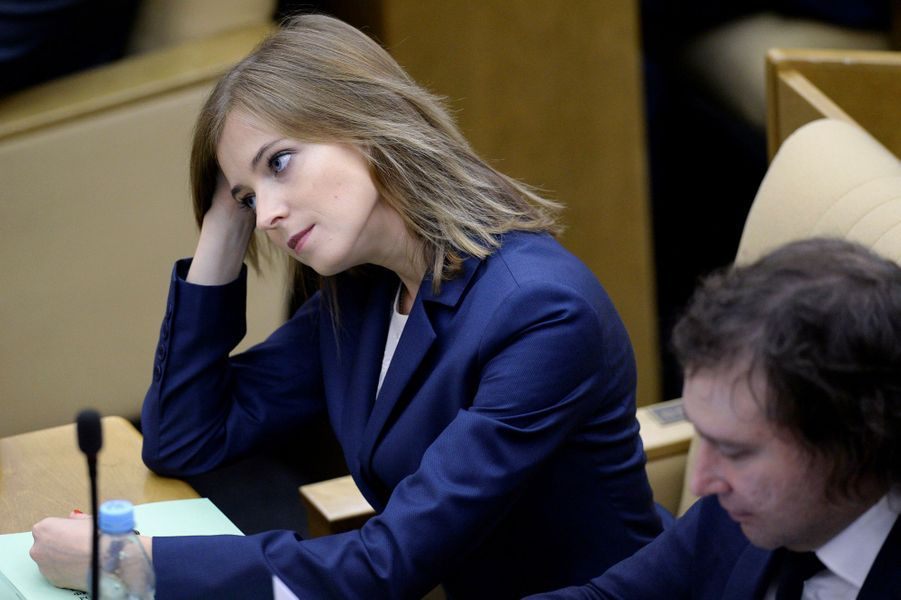 Natalia Poklonskaïa, la procureur générale de Crimée, à la Douma, le 5 octobre 2016.