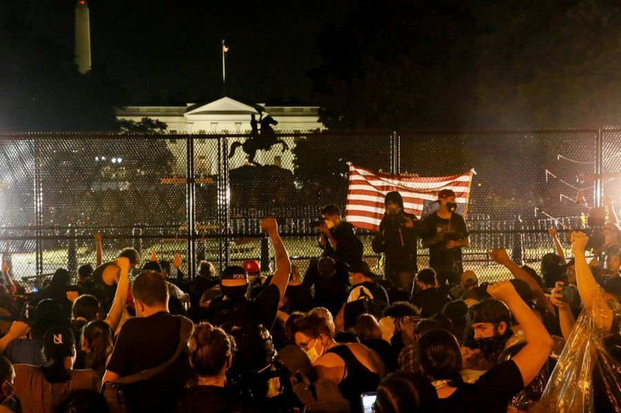 Manifestation devant la Maison-Blanche, le 4 juin 2020.