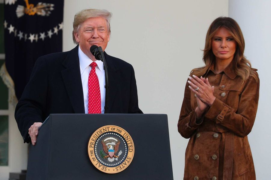 Donald Trump a gracié Butter la dinde à la Maison-Blanche, le 26 novembre 2019.