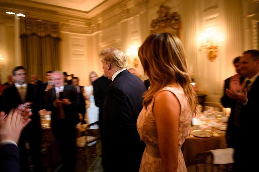Donald et Melania Trump à la Maison-Blanche, le 1er mai 2019.