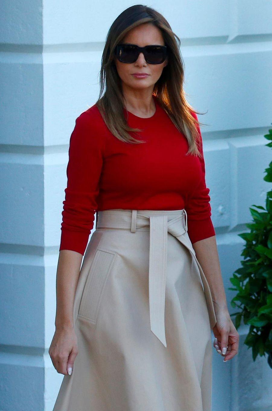 Melania Trump à la Maison-Blanche, le 10 juillet 2018.