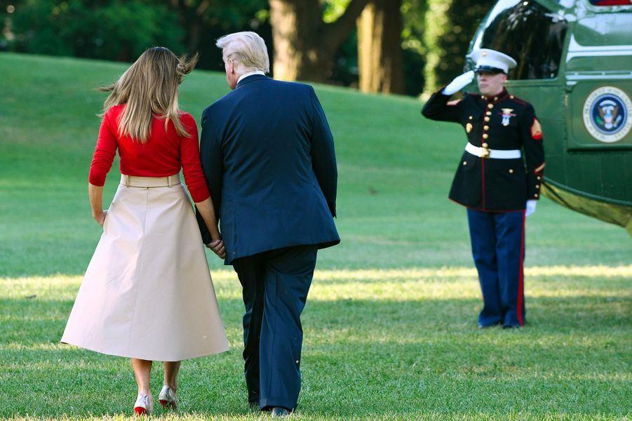 Donald etMelania Trump à la Maison-Blanche, le 10 juillet 2018.