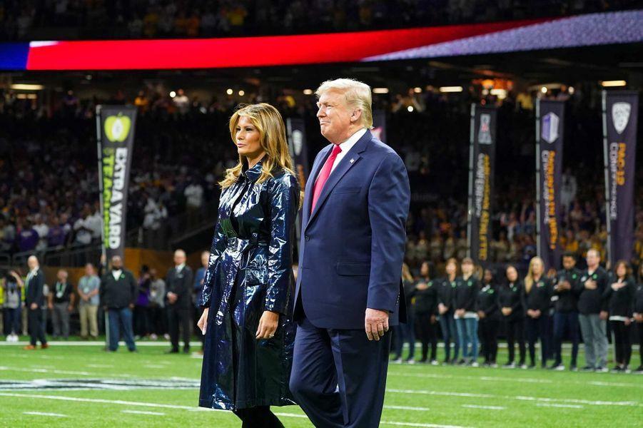 Donald et Melania Trump à La Nouvelle-Orléans, le 13 janvier 2020.