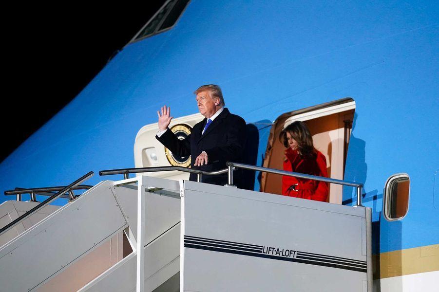 Donald etMelania Trump arrivant à Londres, le 2 décembre 2019.