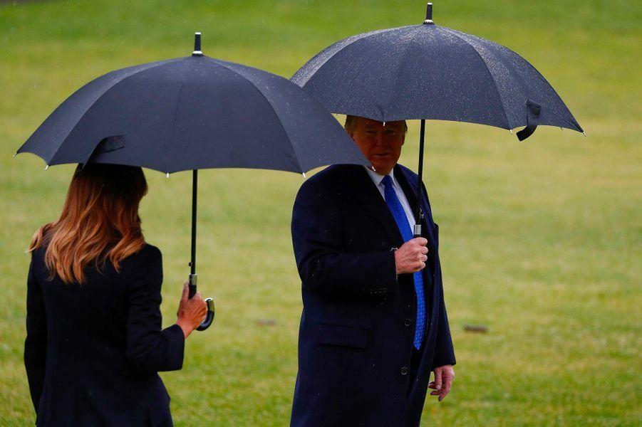 Donald etMelania Trump quittant la Maison-Blanche, le 2 décembre 2019.