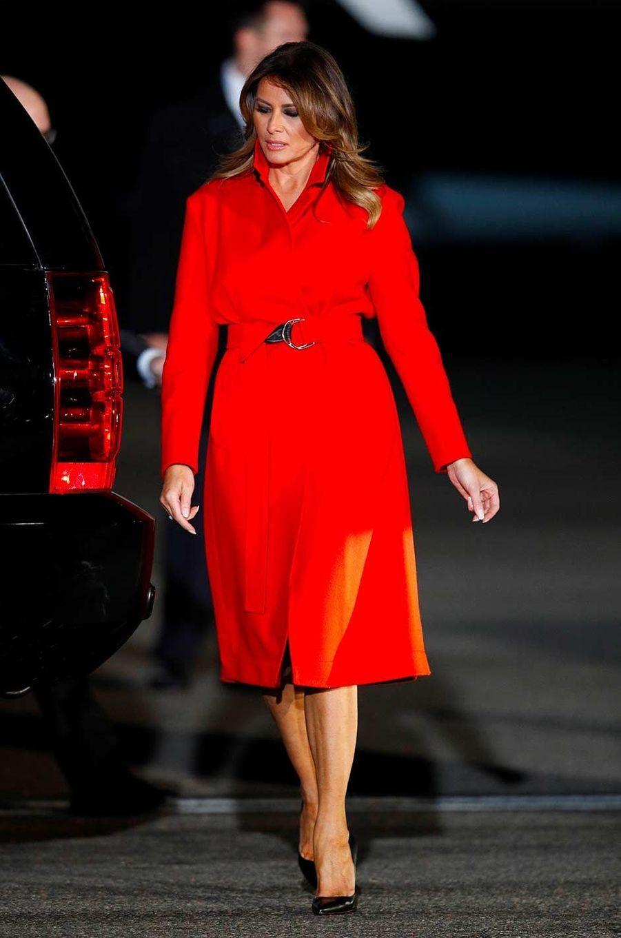 Melania Trump arrivant à Londres, le 2 décembre 2019.