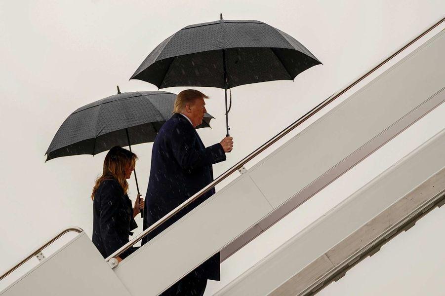 Donald etMelania Trump montant à bord d'Air Force One, le 2 décembre 2019.