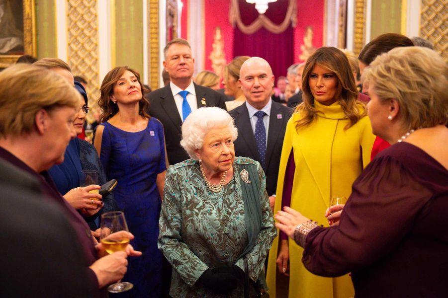 Melania Trump et la reine Elizabeth II à Buckingham Palace, le 3 décembre 2019.