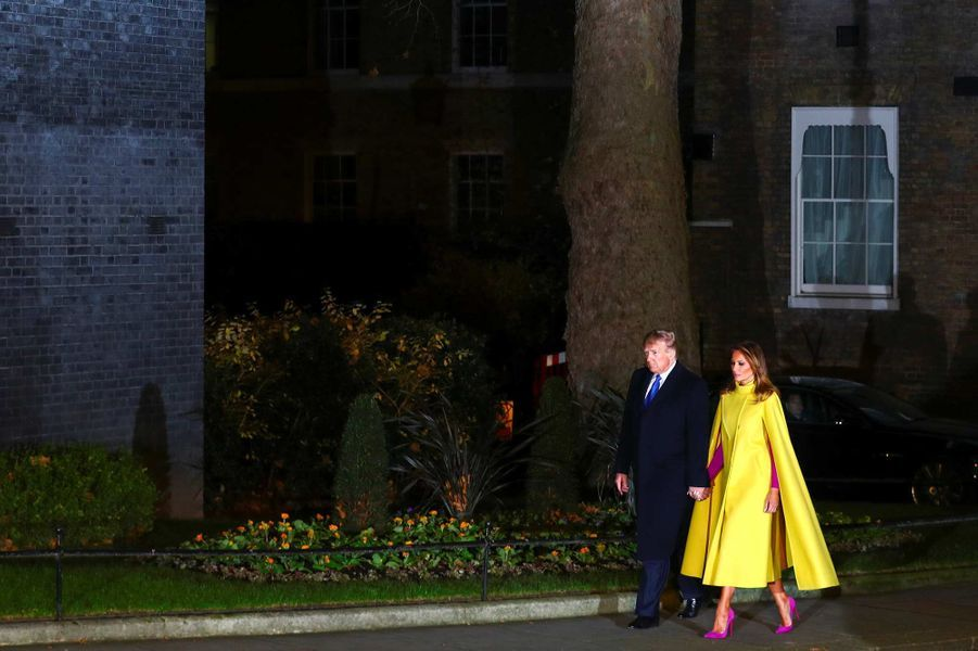 Donald et Melania Trump arrivant à Downing Street, le 3 décembre 2019.