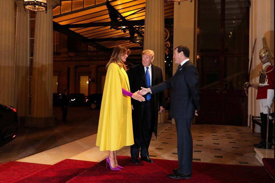Donald et Melania Trump accueillis à Buckingham Palace, le 3 décembre 2019.