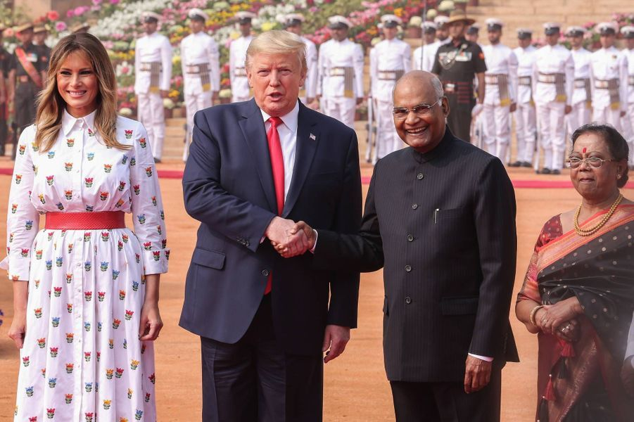 Donald et Melania Trump à New Delhi, en Inde, le 25 février 2020.