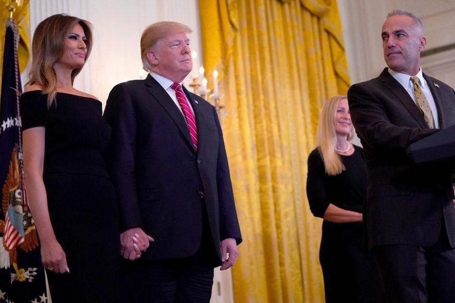 Donald et Melania Trump à la Maison-Blanche, le 6 décembre 2018.