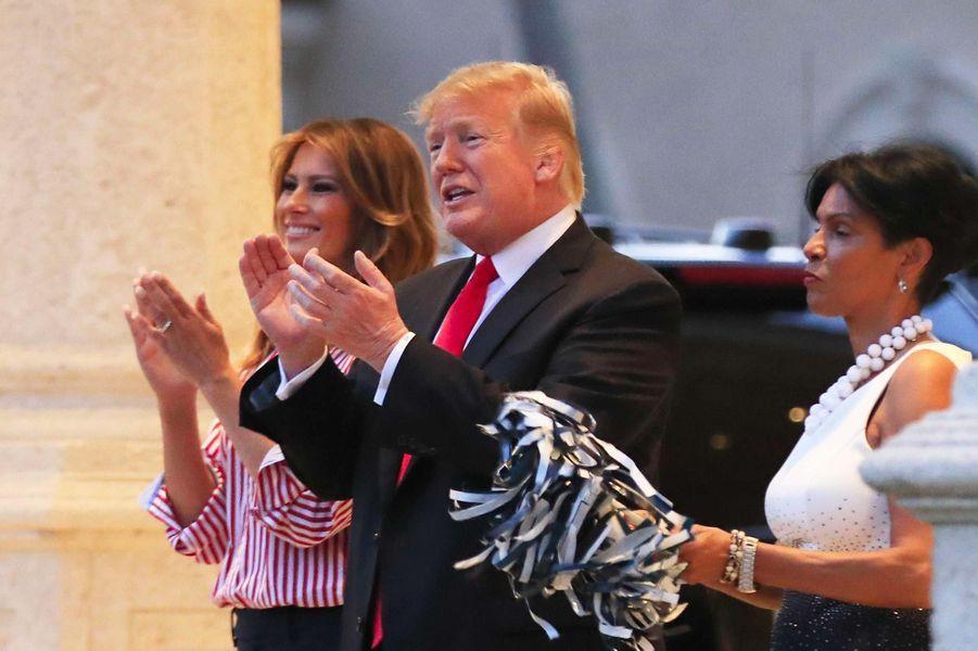 Donald et Melania Trump à Mar-a-Lago, le 3 février 2019.