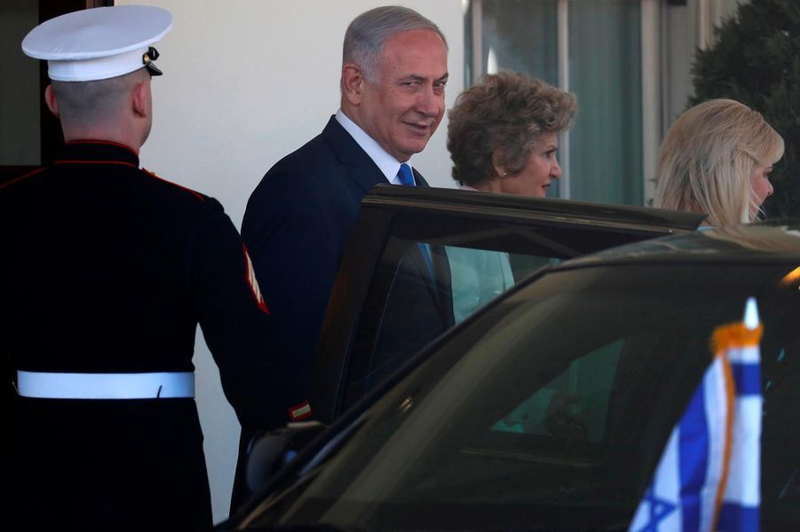 Donald et Melania Trump ont reçu Sara et Benjamin Netanyahou à la Maison-Blanche, le 5 mars 2018.