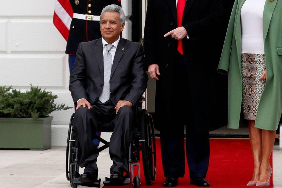 Le président équatorien Lenin Moreno à la Maison-Blanche, le 12 février 2020.