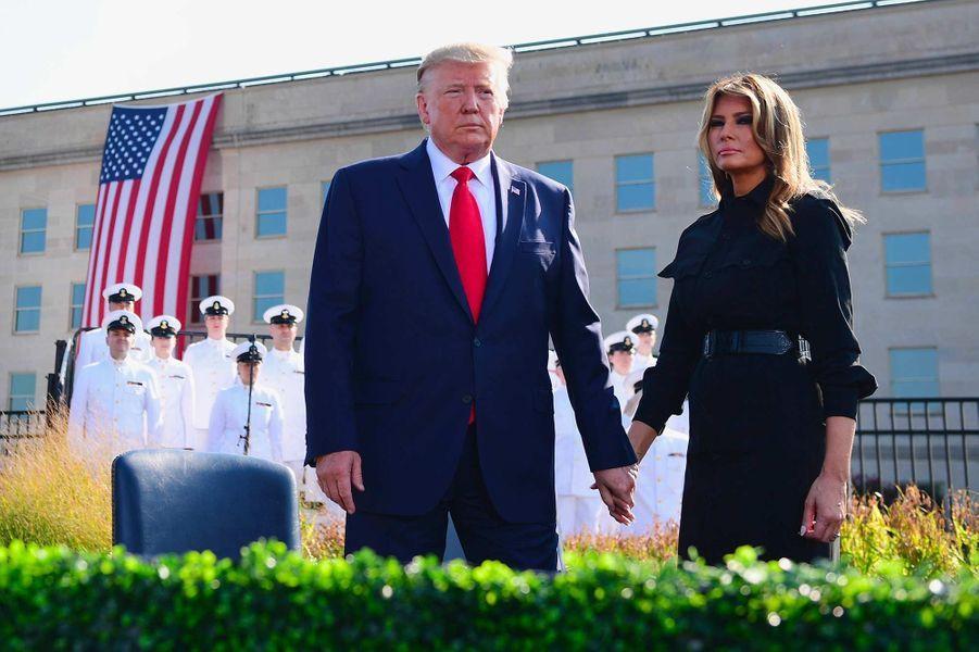 Donald et Melania Trump au Pentagone, le 11 septembre 2019.