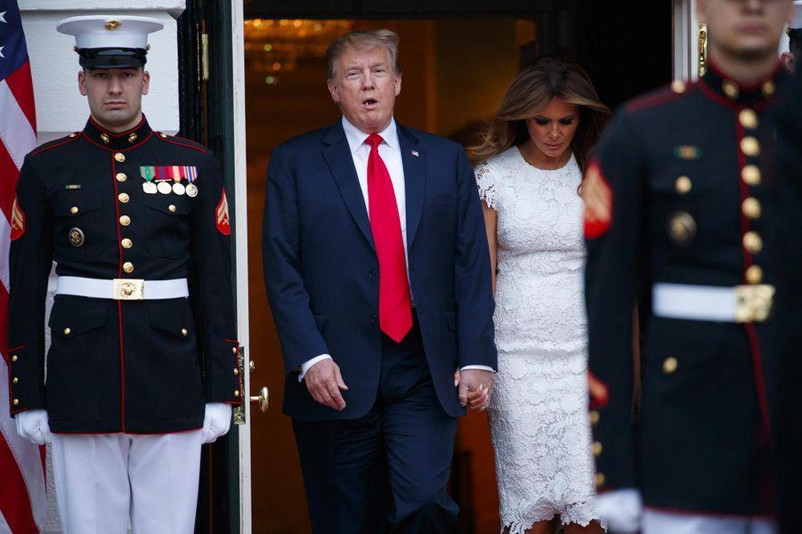 Donald et Melania Trump à la Maison-Blanche, le 26 avril 2019.