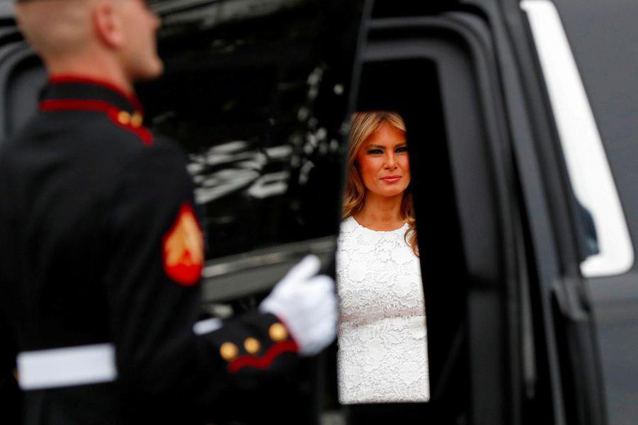 Melania Trump à la Maison-Blanche, le 26 avril 2019.