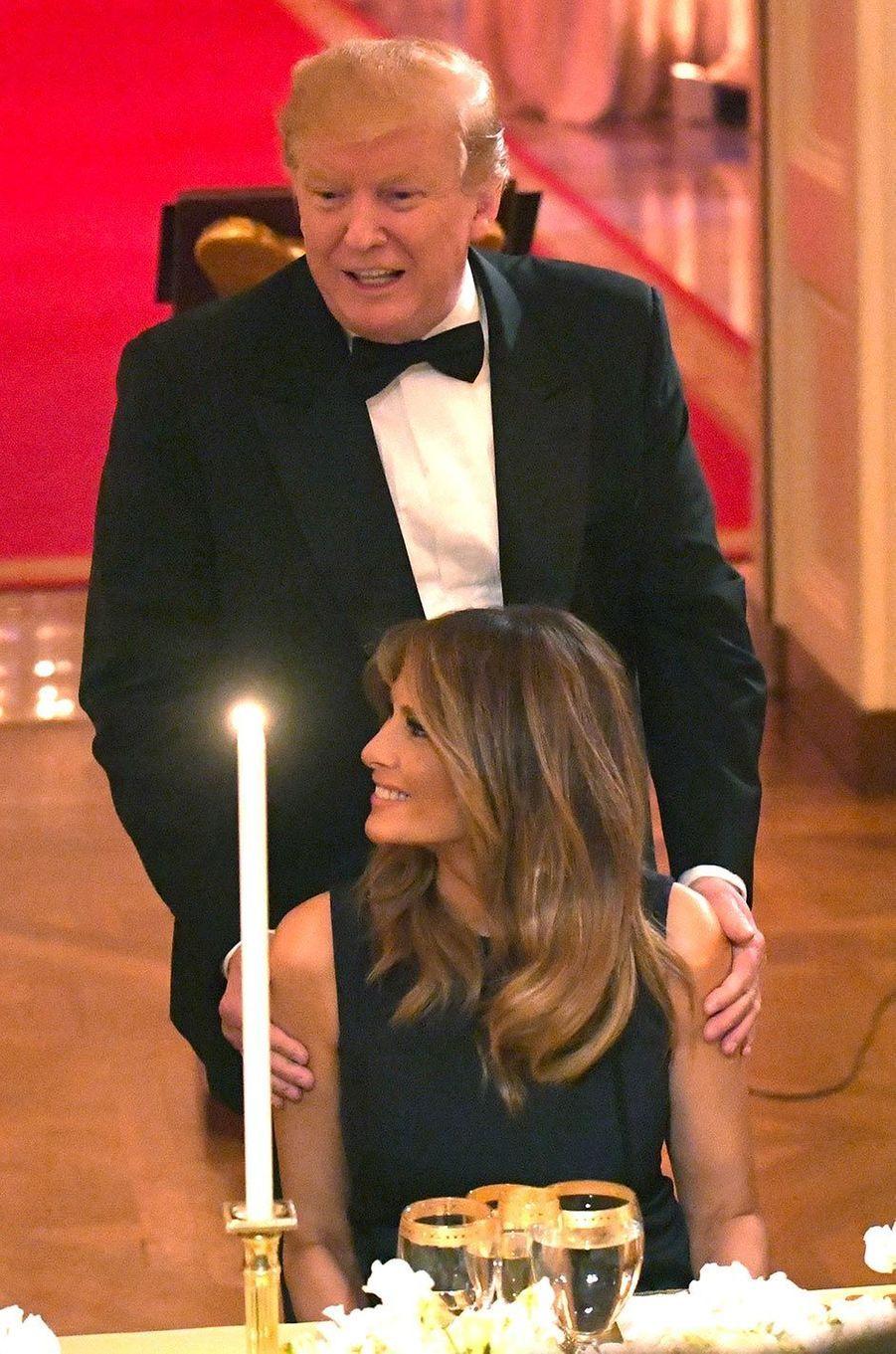 Donald et Melania Trump à la Maison-Blanche, le 15 mai 2019.