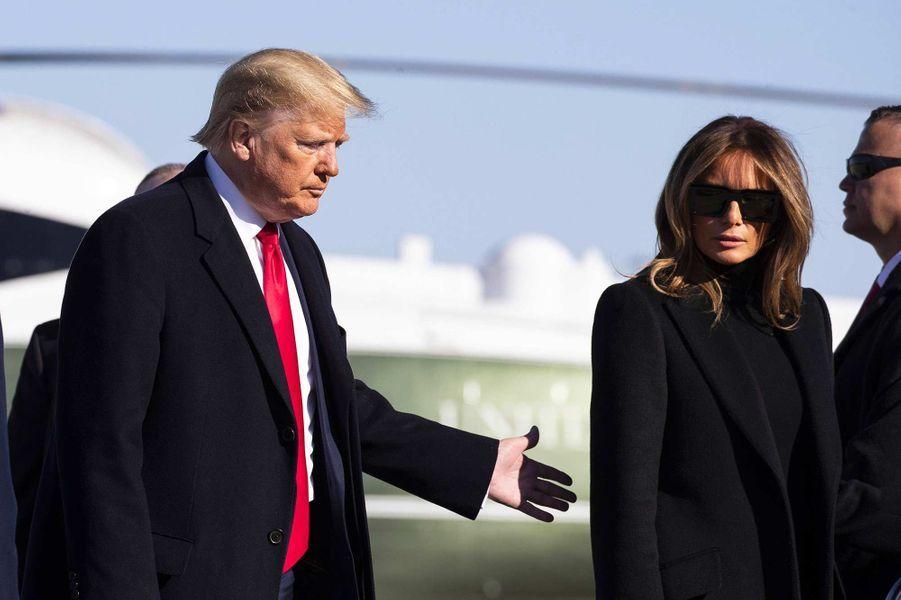 Donald et Melania Trump se sont envolés vers l'Inde, le 23 février 2020.