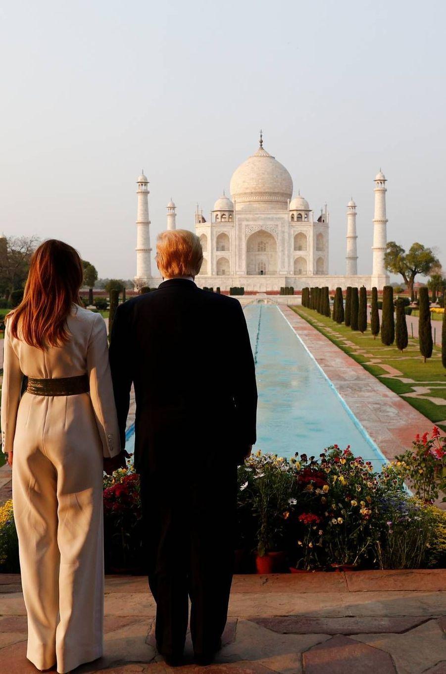 Donald et Melania Trump au Taj Mahal, le 24 février 2020.