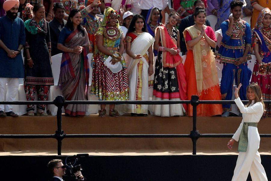 Donald et Melania Trump lors du meeting «Namaste Trump» à Ahmedabad, le 24 février 2020.