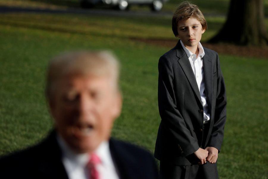 Donald Trump et son fils Barron.
