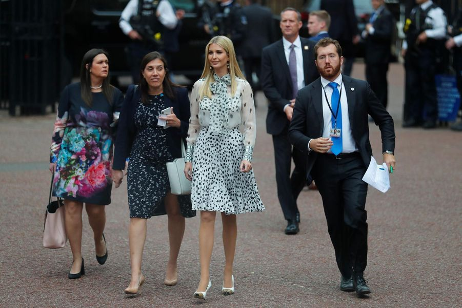 Ivanka Trump quittant St James's Palace, le 4 juin 2019.