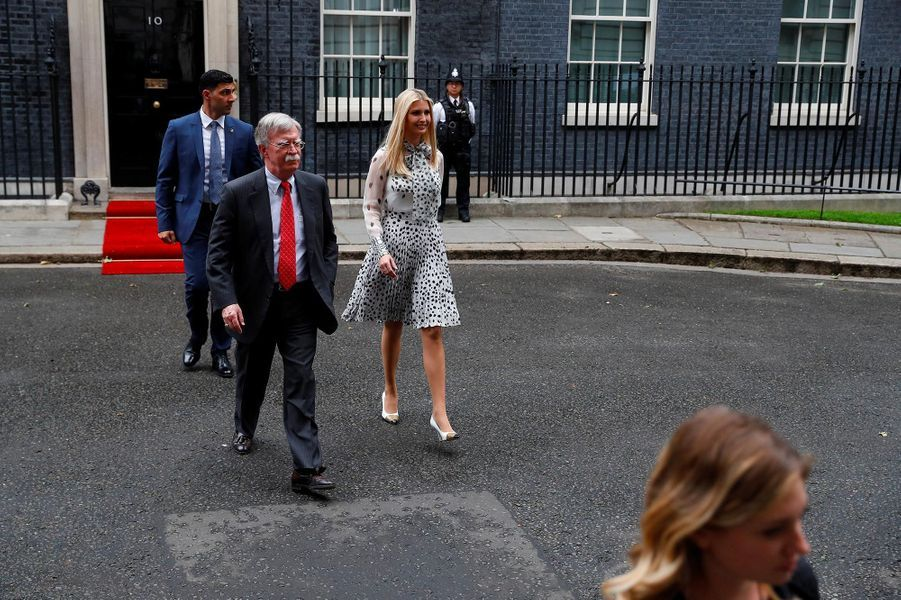 Ivanka Trump quittant le 10 Downing Street, le 4 juin 2019.