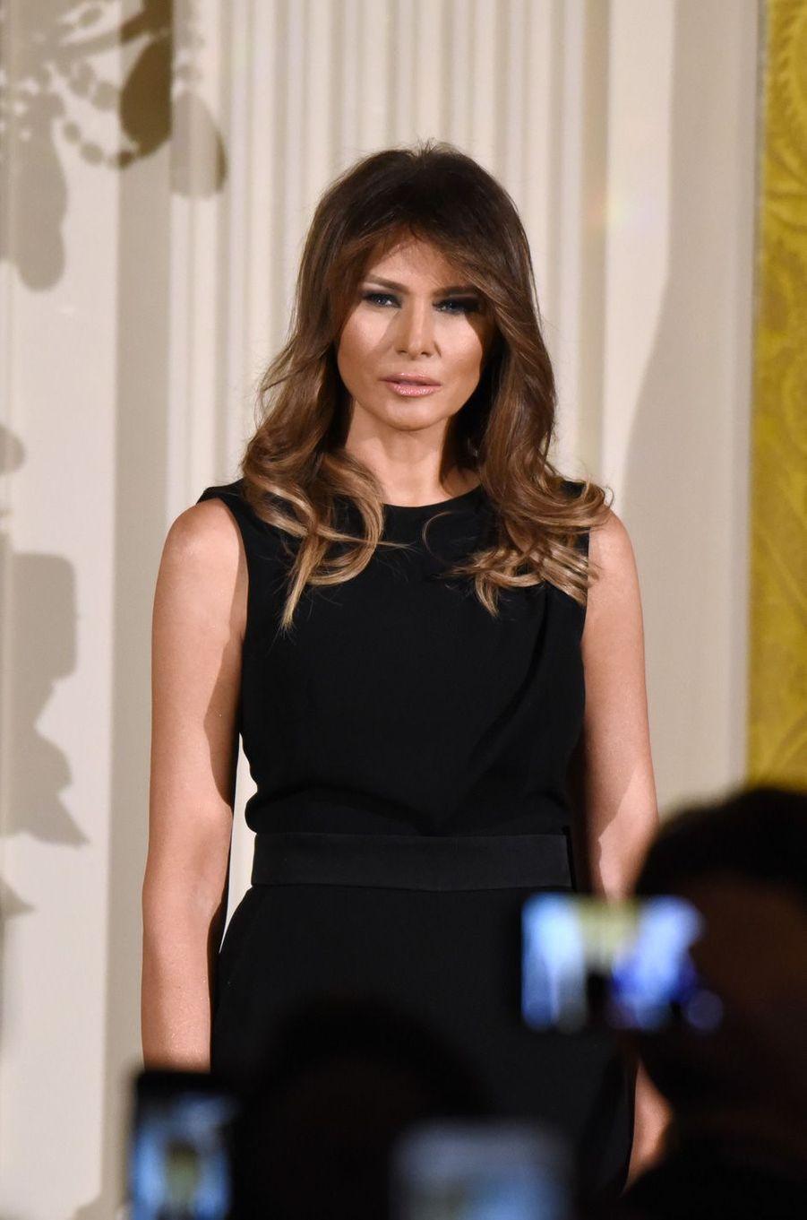 Melania Trump à la Maison Blanche, le 7 décembre 2017.