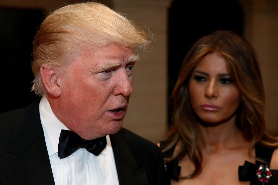 Donald Trump et son épouse Melania lors de la soirée du Nouvel An, le 31 décembre 2016 à Mar-a-Lago.