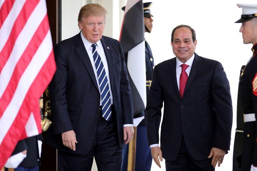 Donald Trump et Abdel Fattah al-Sissi à la Maison Blanche, le 3 avril 2017.