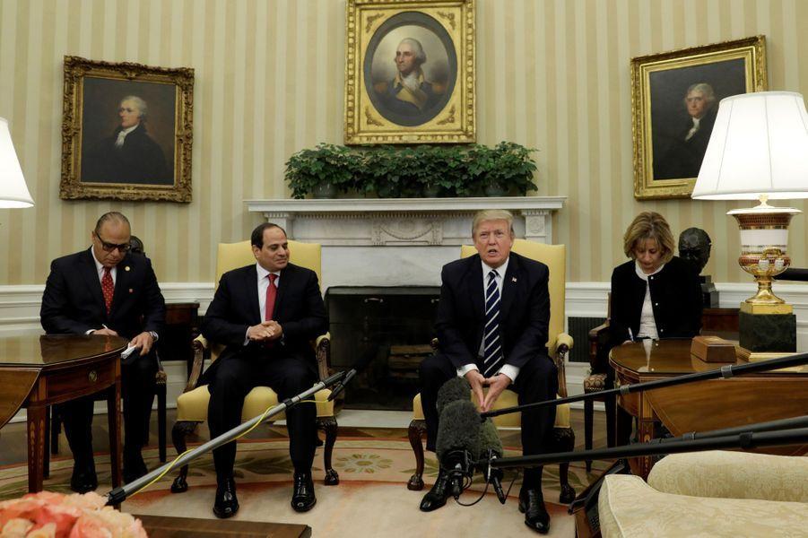 Abdel Fattah al-Sissi et Donald Trump à la Maison Blanche, le 3 avril 2017.