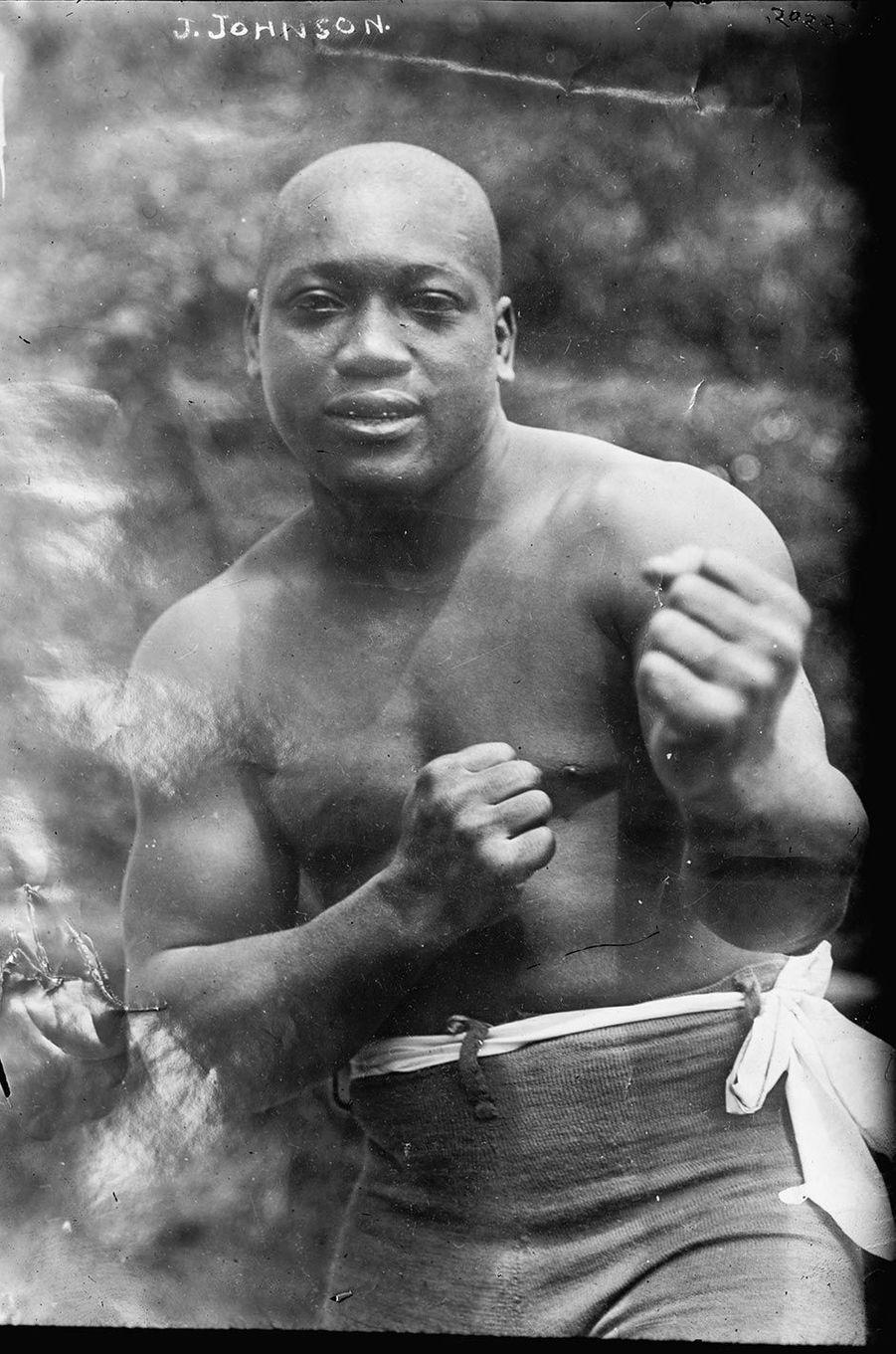 Jack Johnson, le champion de boxe réhabilité par Donald Trump.