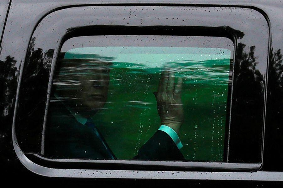 Donald Trump arrivant dans le Maryland, le 16 mai 2018.