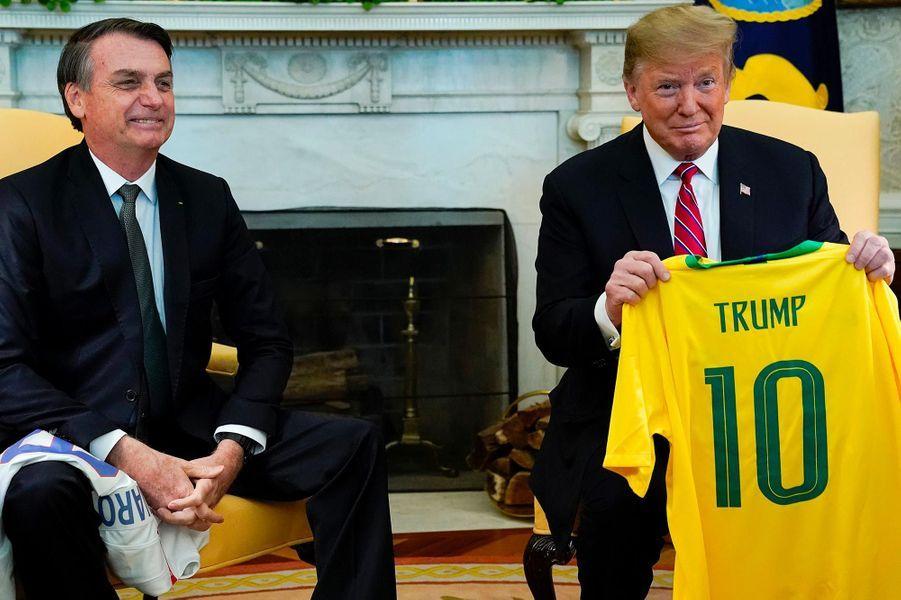 Donald Trump et Jair Bolsonaro à la Maison-Blanche, le 19 mars 2019.