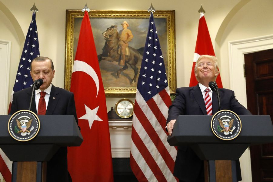 Donald Trump et Recep Tayyip Erdogan à la Maison Blanche mardi