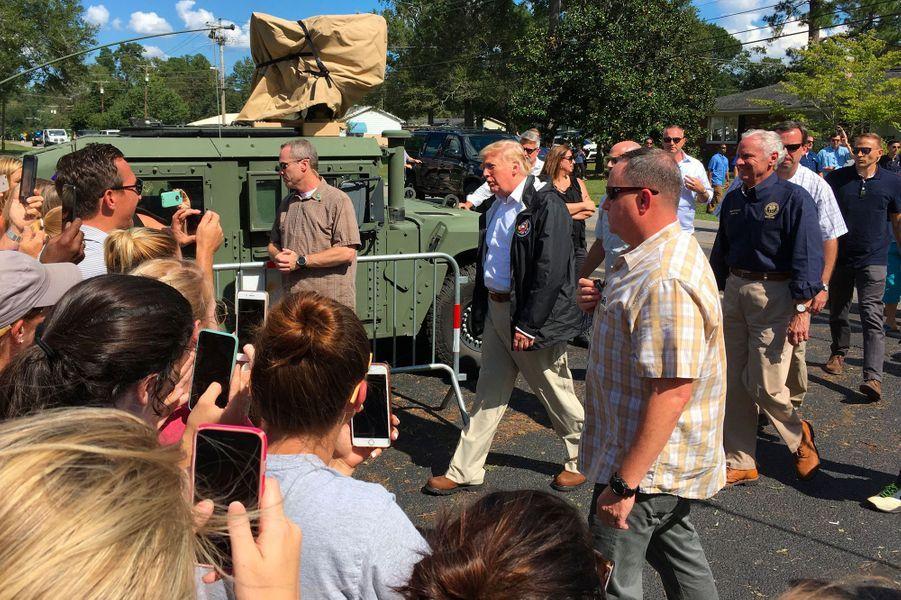 Donald Trump à Conway, en Caroline du Sud, mercredi.