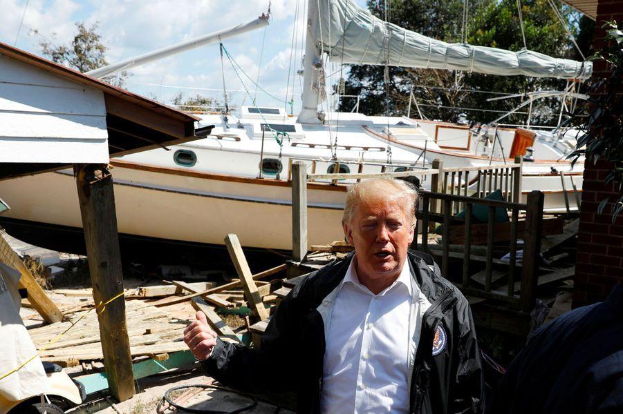 Donald Trump à New Bern, en Caroline du Nord, mercredi.