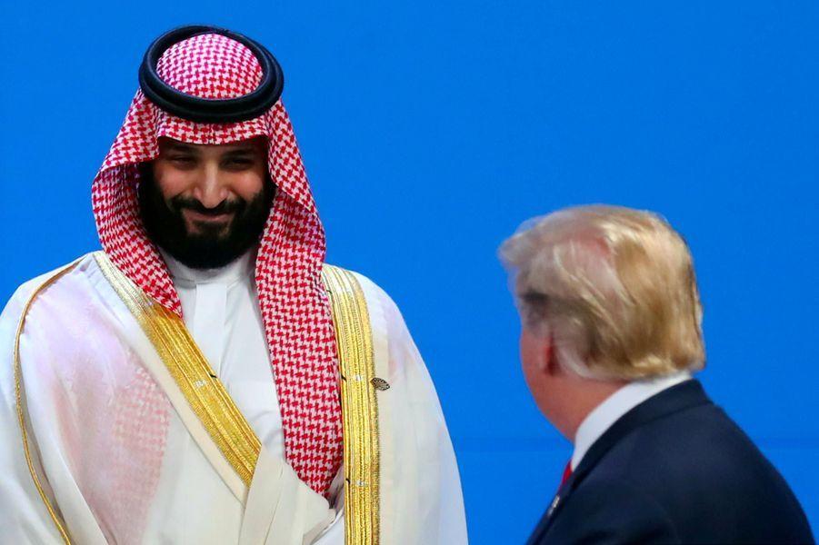 """Face à Mohammed ben Salmane au G20 à Buenos Aires, le 30 novembre 2018.A lire :""""Avec Trump, les Saoudiens ont trouvé un allié"""""""