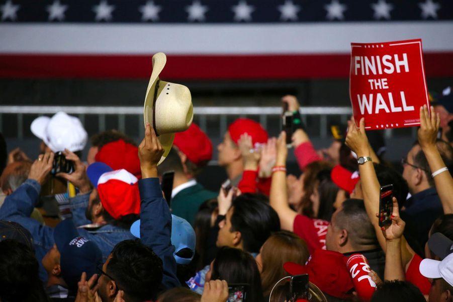 Des partisans de Donald Trump à El Paso, au Texas, le 11 février 2019.