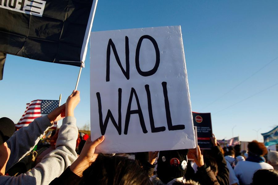Rassemblement anti-Donald Trump à El Paso, au Texas, le 11 février 2019.