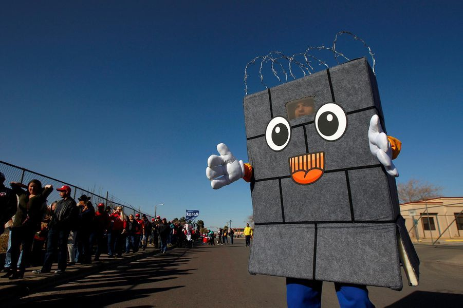 Un partisan de Donald Trump à El Paso, au Texas, le 11 février 2019.