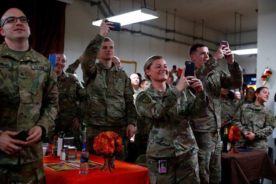 Donald Trump s'est rendu sur la base aérienne de Bagram, en Afghanistan, le 28 novembre 2019.