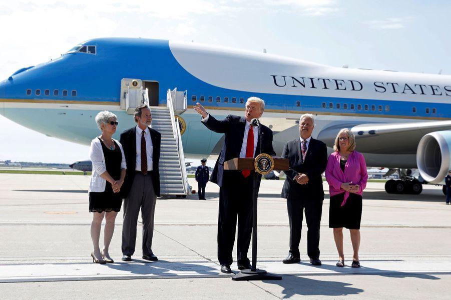 Donald Trump dans le Wisconsin, le 13 juin 2017.