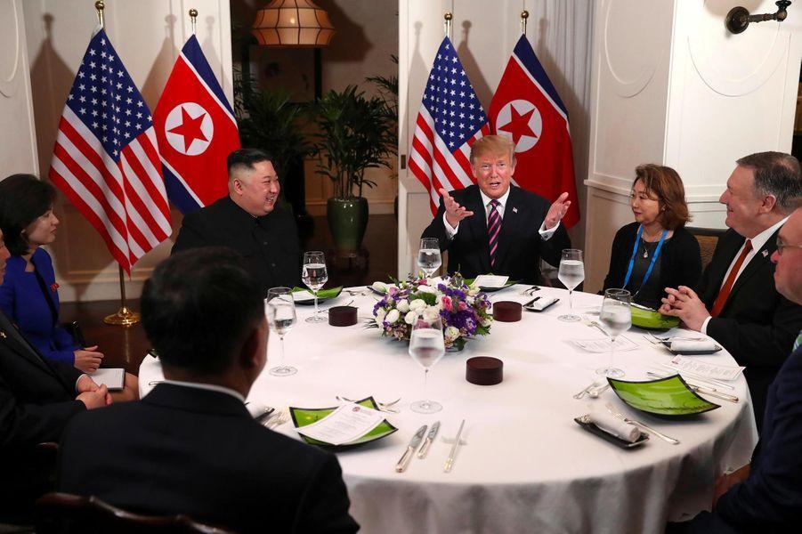 Kim Jong-un et Donald Trump à Hanoï, au Vietnam, le 27 février 2019.