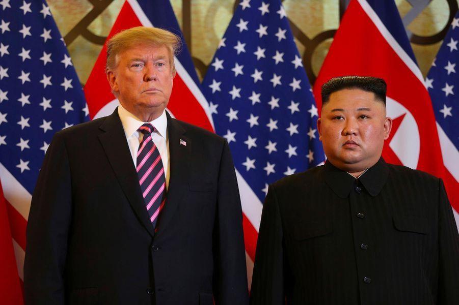 Donald Trump et Kim Jong-un à Hanoï, au Vietnam, le 27 février 2019.