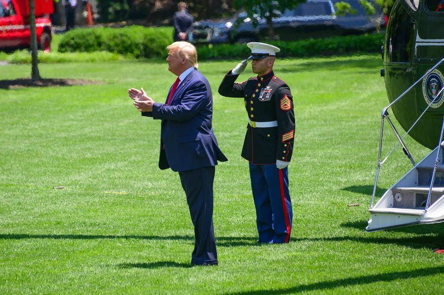 Donald Trump quittant la Maison-Blanche, le 26 juin 2019.